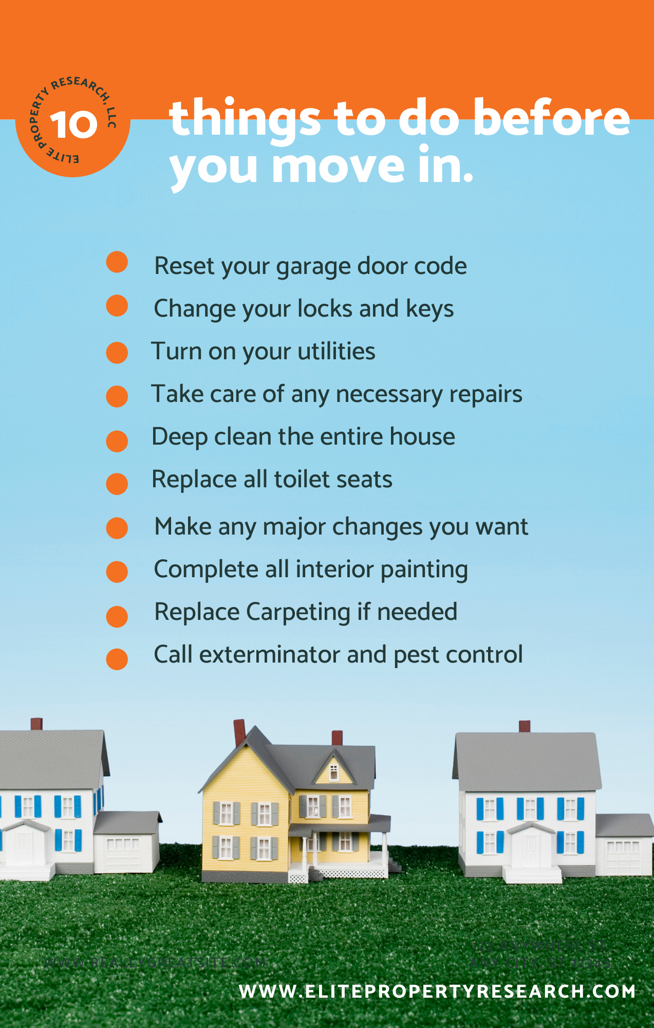 10 things to do before you move in